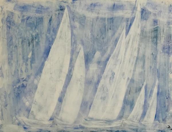 Segeln in Hellblau