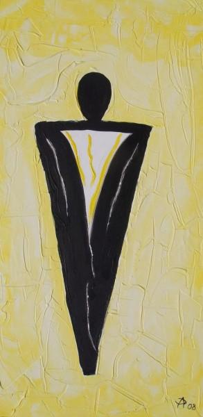 Mann auf Gelb