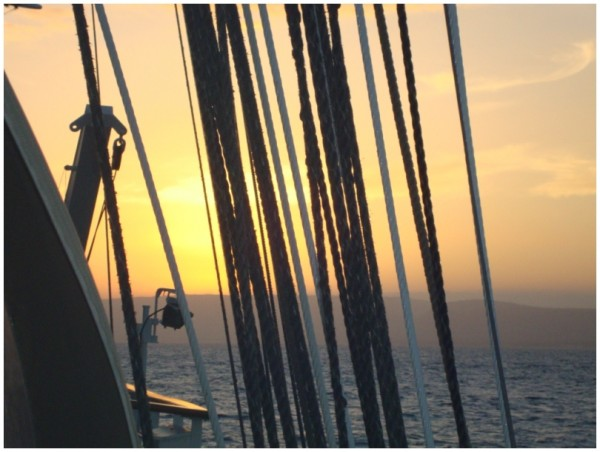 Seacloud 1 Tampen geordnet im Sonnenuntergang