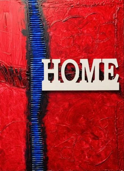 Home in Blau rot