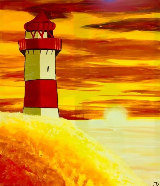 Leuchtturm in der Sonne