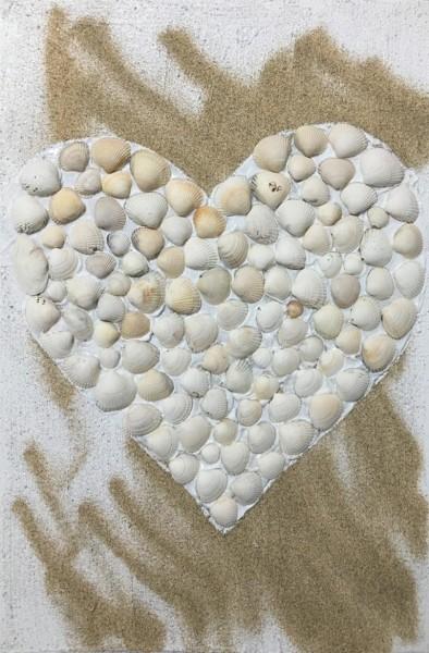Herz aus Muscheln
