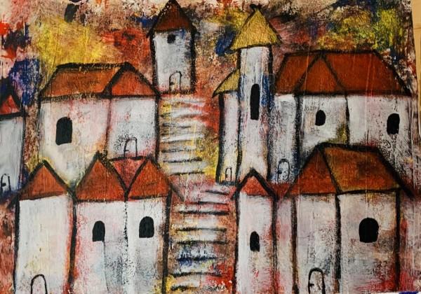 Häuser abstrakt 3