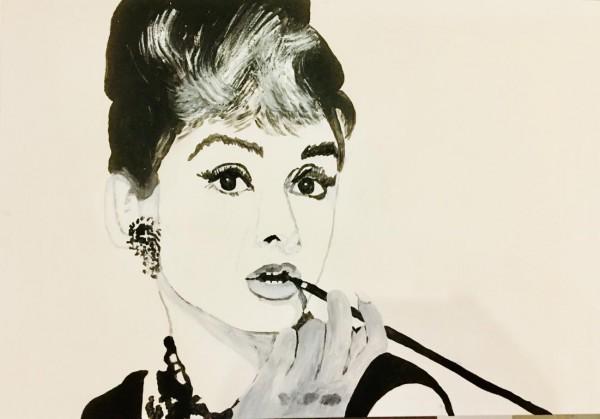 Audrey mit Zigarette
